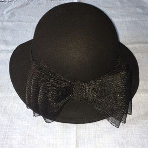 Vintage Women's Black Bollman Wool Black Felt Hat